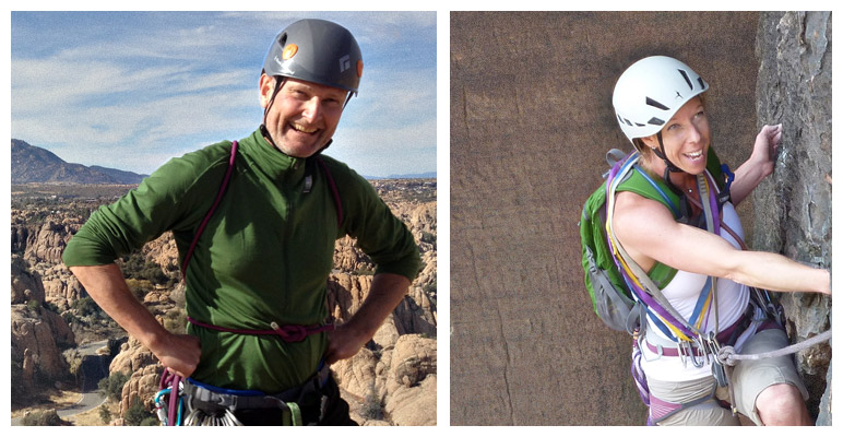 Happy climbers in Prescott, Arizona and Red Rock, Nevada