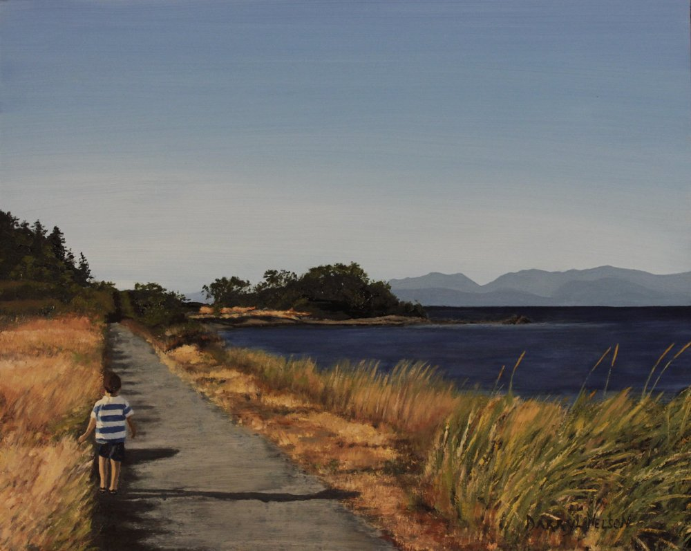 'Boy by the Sea, Pipers Lagoon'