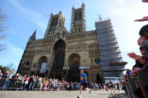The Lincoln 10k Road Race  , passing the Lincoln Cathedral, not far from    The Rest Hotel   .