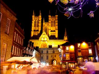 Lincoln Christmas Market Scene