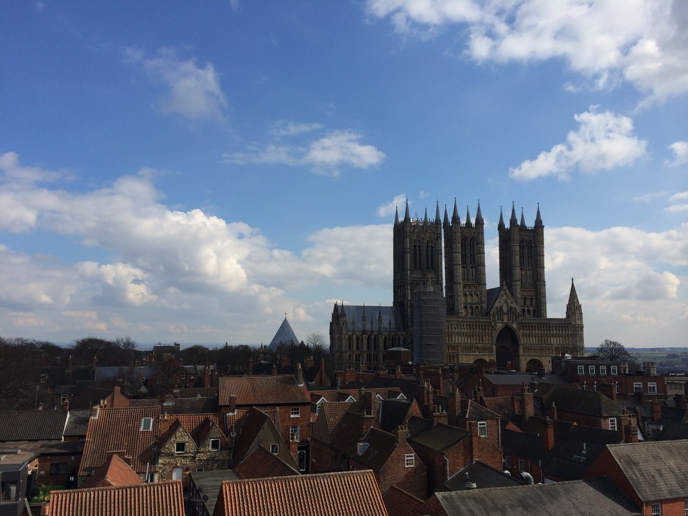 Views to Lincoln Cathedral from the Castle