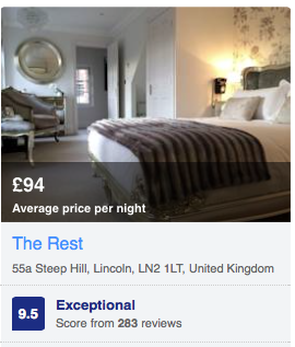 Booking.Com Rating 2015 and 2016 for  Lincoln Hotel  -  The Rest