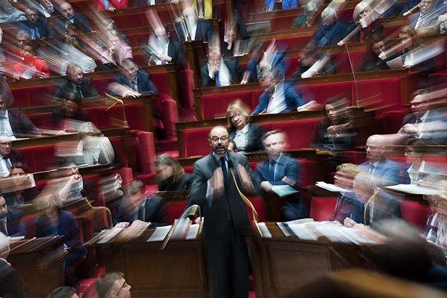 Paris, France le 19 février 2019 - Le Premier ministre, Edouard Philippe prend la parole durant la séance des Questions au gouvernement à l'Assemblée nationale. #Photojournalisme #Politique #Politics #Nikon @nikonfr #D750 #80200mm #Zooming