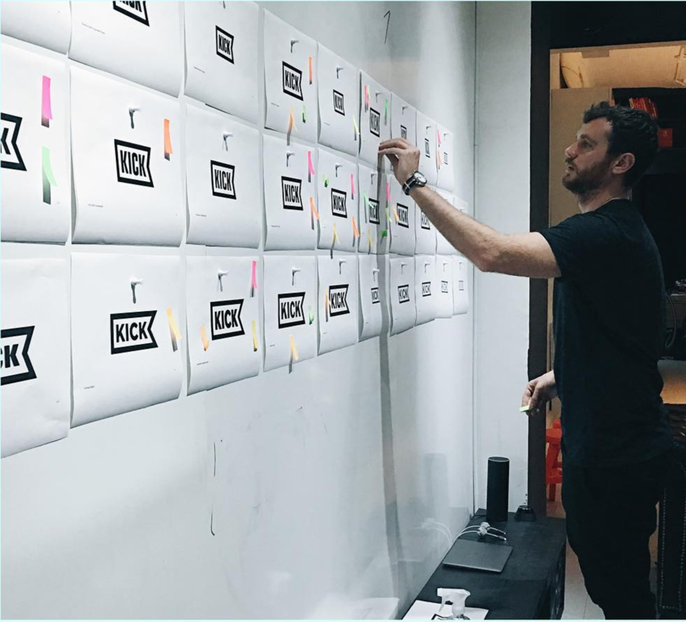 Once an idea for the logo was agreed, the team voted on different stylistic approaches.
