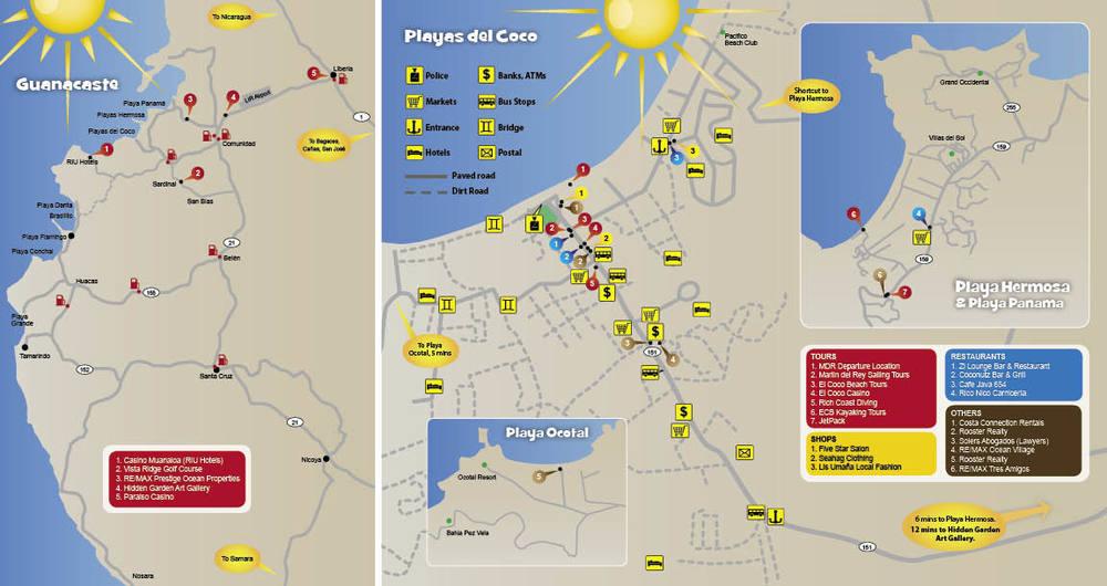 Playas del Coco & Playa Tamarindo, Guanacaste, Costa Rica - Playas ...