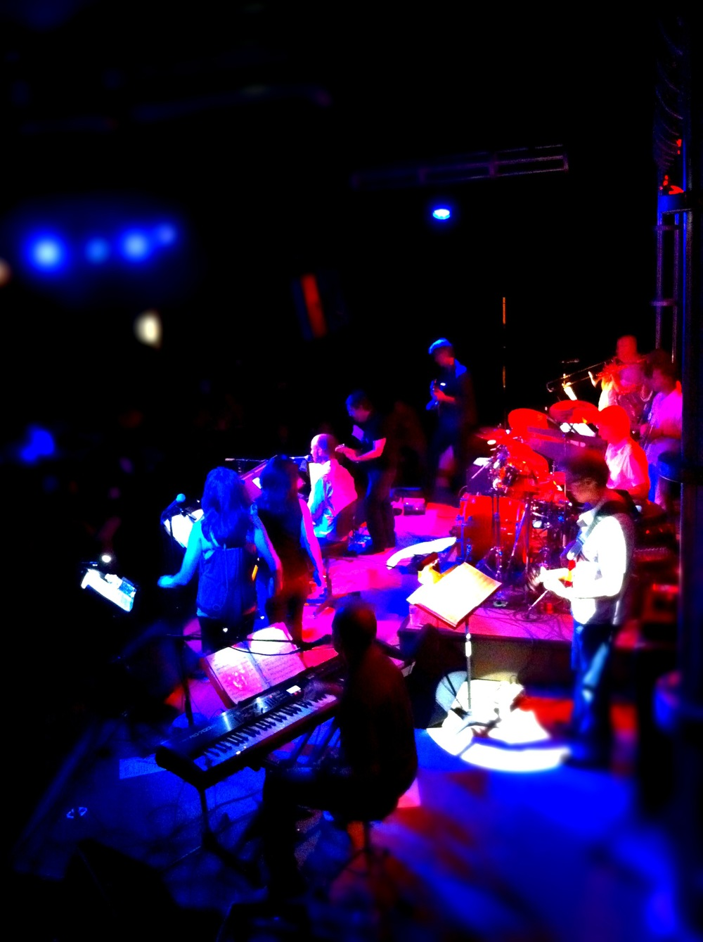 On stage with '12 Against Nature' at 3rd & Lindsley in Nashville, TN.