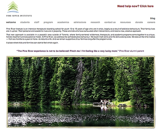We've launched a fresh Pine River website.  Check it out at www.PineRiverInstitute.com.  What do you think?