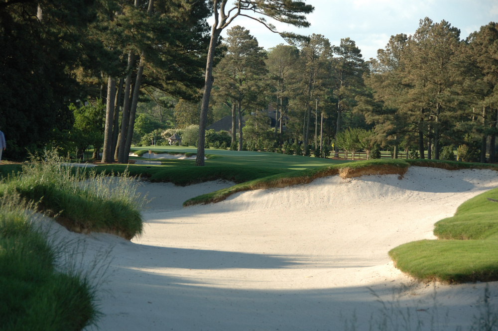 Fairway Bunker on Golf Hole #18, Par 5, 555 Yards