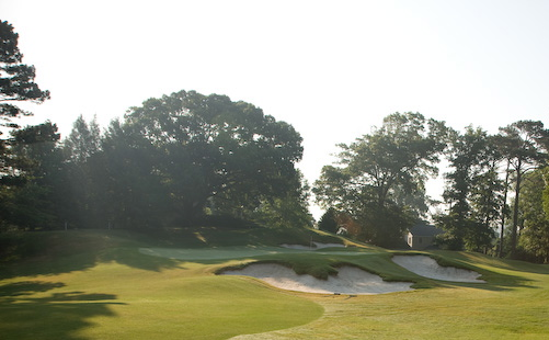 Earlier morning photo of Golf Hole #15, Par 3, 197 Yards