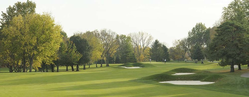 The par 4, fifteenth hole at Des Moines Golf and County Club