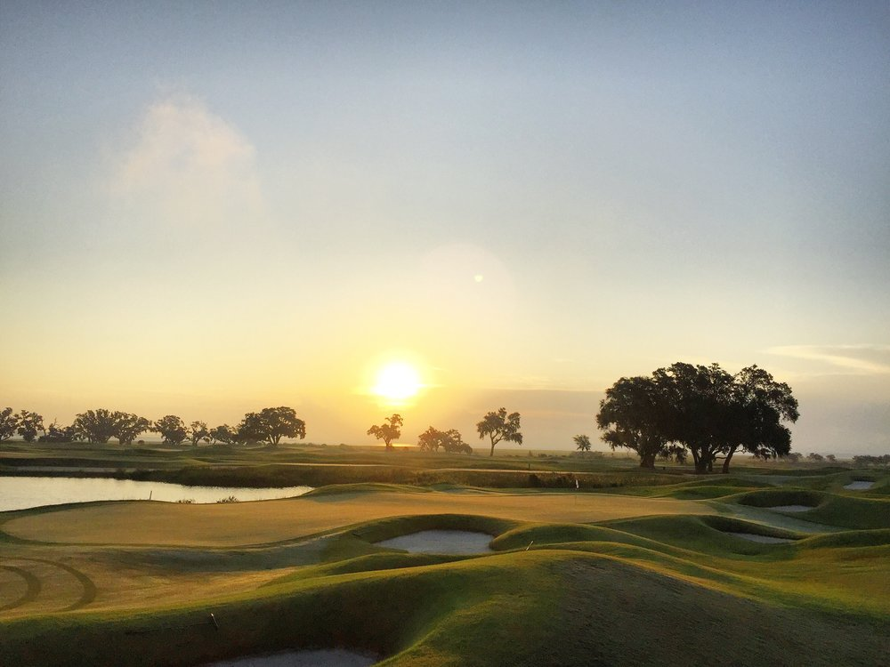 Golf Hole #9 at Colleton River Club, Beaufort, South Carolina (photo by Jake Williams) We remodeled the golf course last year, restoring bunkers throughout the Pete Dye design. The work received an American Society of Golf Course Architects Design Excellence Recognition Award.