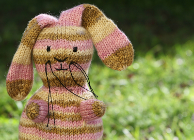 Velveteen, a knitted rabbit kit