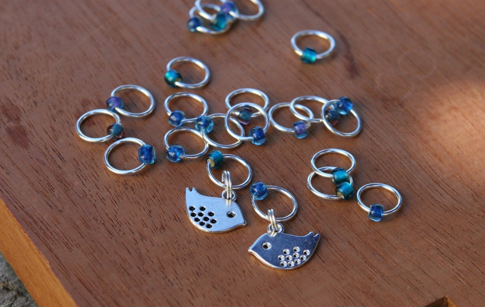 Bluebird stitch markers