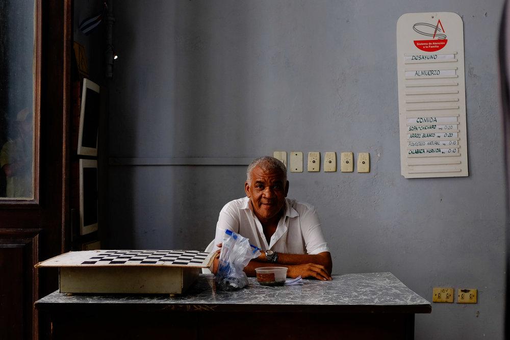 Jugador de Ajedrez. La Habana, Cuba. Foto: Pablo Salgado.