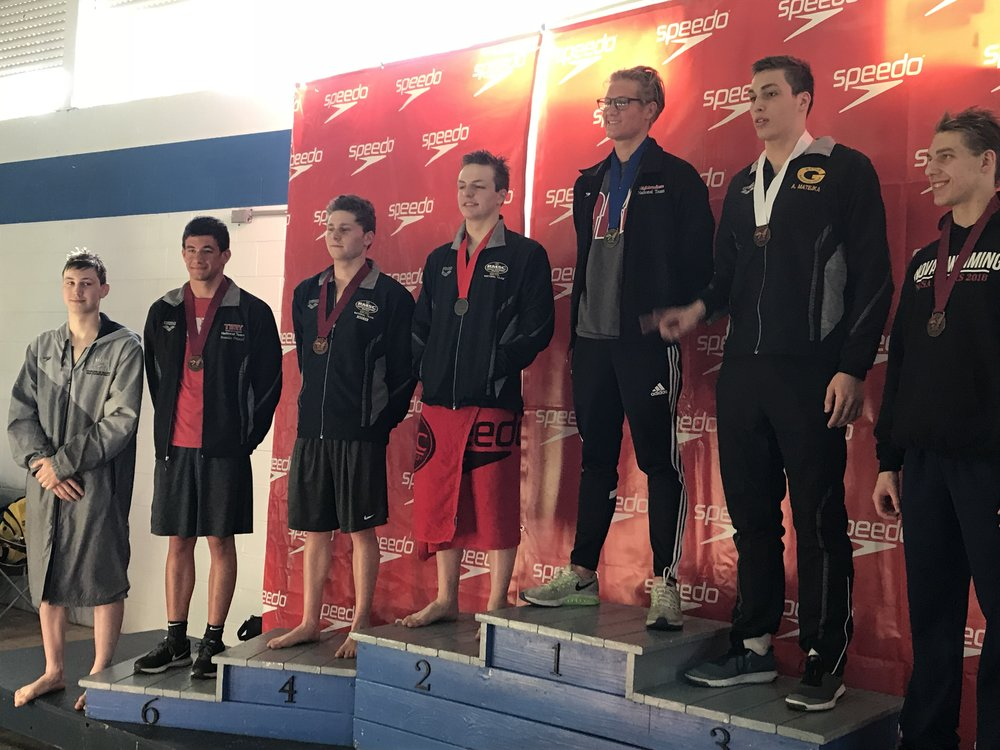Ryan Vipavetz - 2nd place 1000 Freestyle  Jacob Rosner 4th place 1000 Freestyle