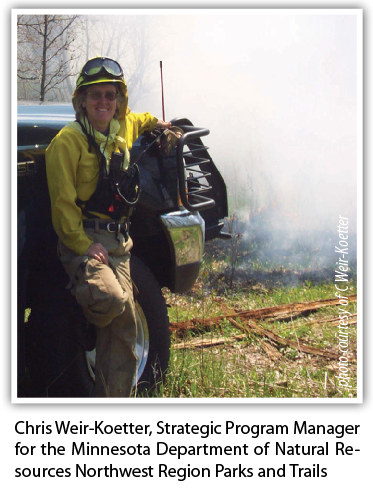 Chris Weir-Koetter, Strategic Program Manager for the Minnesota Department of Natural Resources Northwest Region Parks and Trails