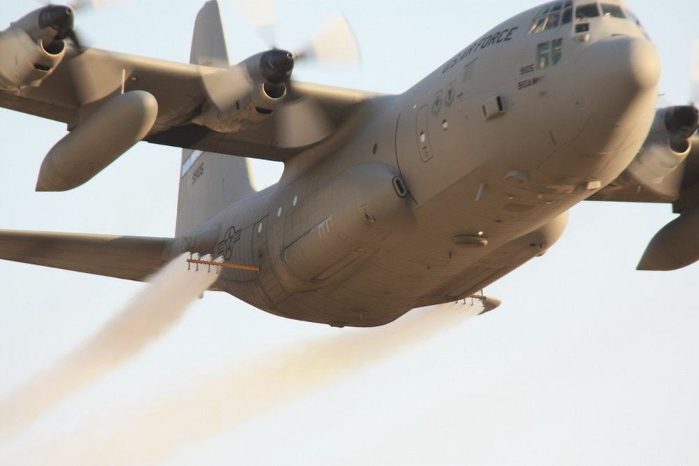 910th AW utilizes a specially modified C-130 aircraft to apply the selective herbicide Imazapic to 3,200 acres per year.