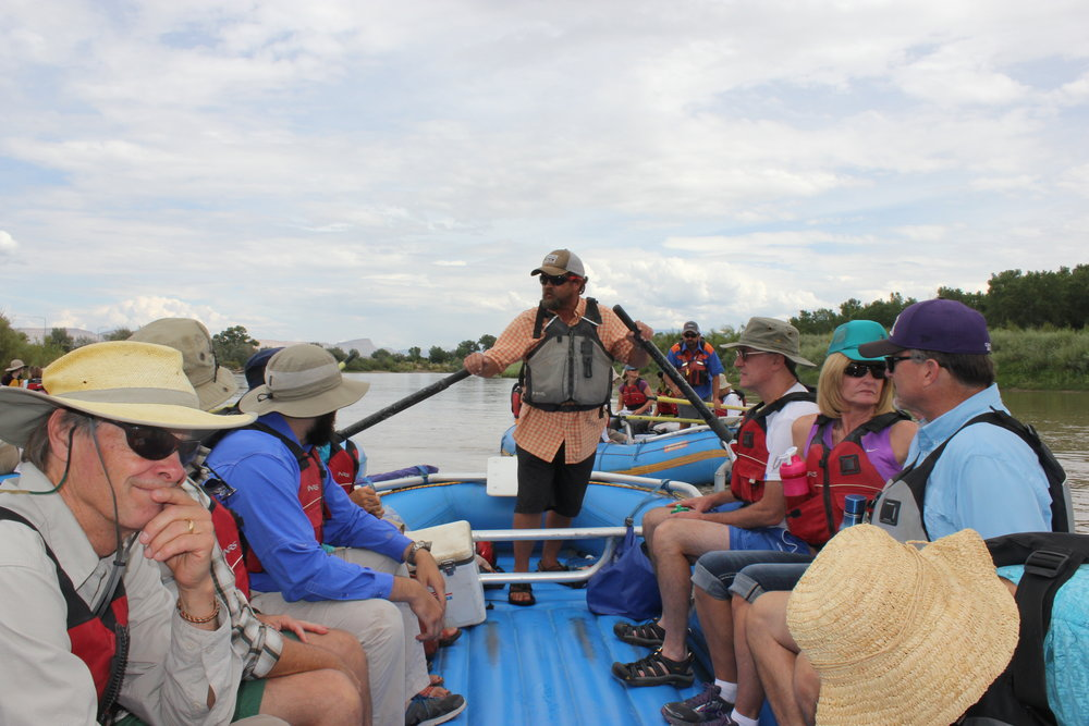 THE THIRD ANNUAL RAFT THE RIVER TRIP GAVE ATTENDEES A CLOSE-UP LOOK AT RESTORATION WORK ALONG THE UPPER COLORADO RIVER.