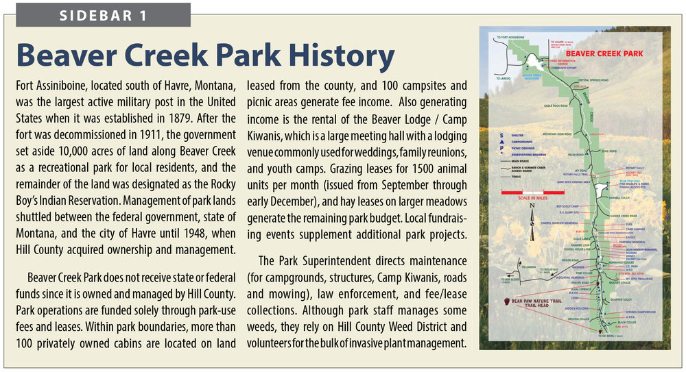 Additional history on the park is available at:    issuu.com/havrenews/docs/beaver_creek_park_2016_100_yr
