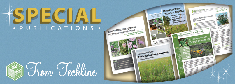 Here's a sneak a peek at our invasive plant management guides and special publications.