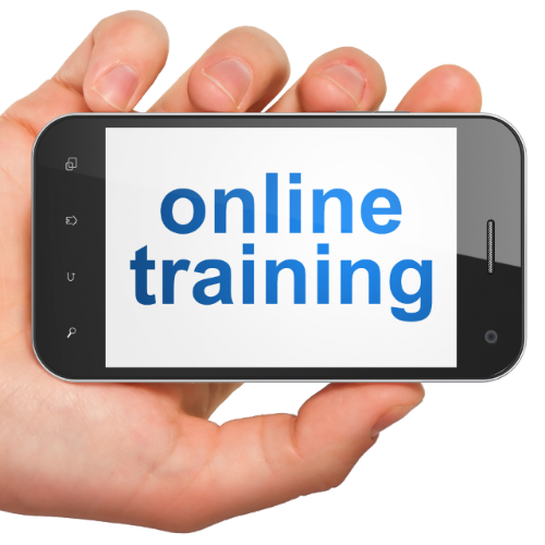 Education concept: smartphone with Online Training