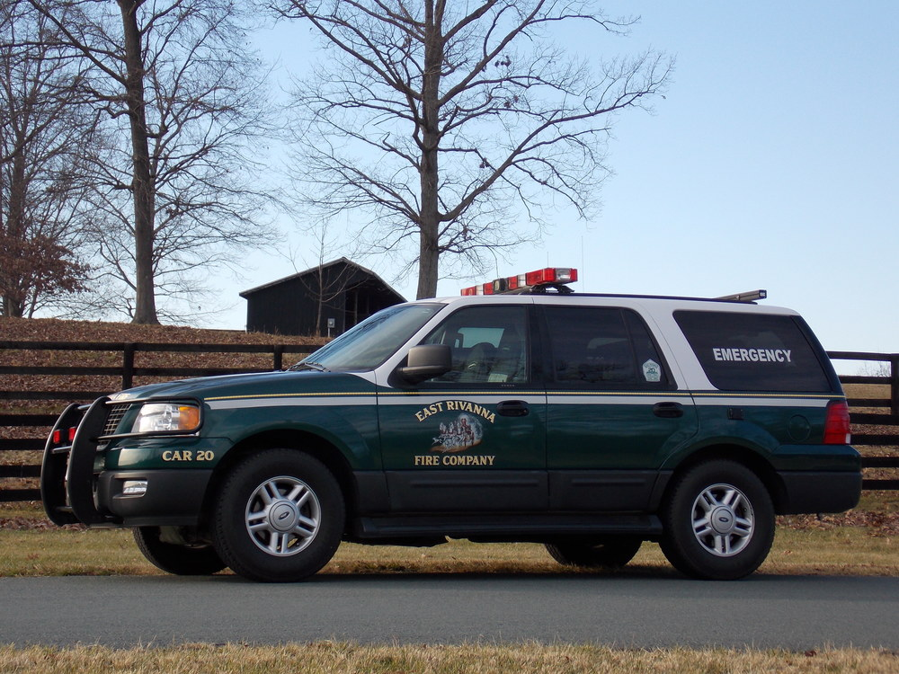 2004 Ford Expedition Quick response vehicle used to answer EMS calls. This vehicle is also used to pull our utility/hose trailer and as a second duty officer's vehicle during inclement weather.