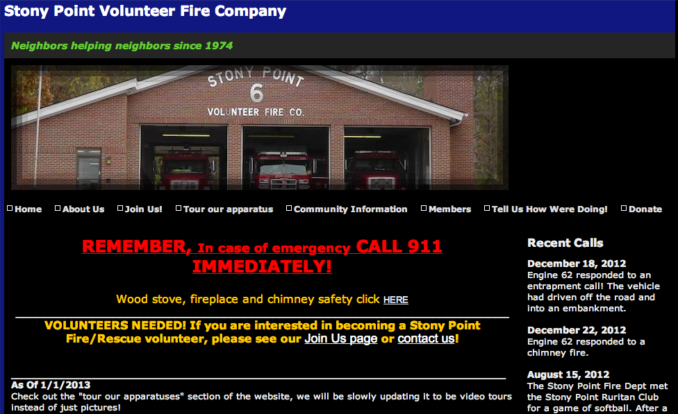 Stony Point Volunteer Fire Company - Station 6