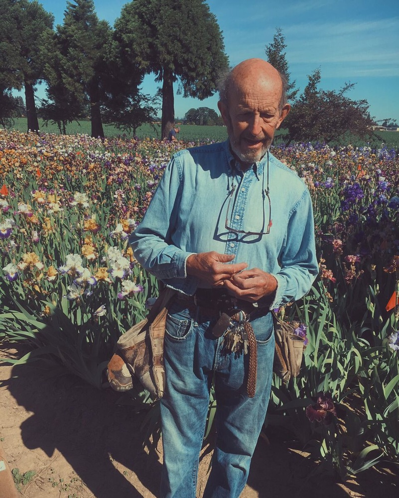 Ray Schreiner, one of the beloved flower keepers.
