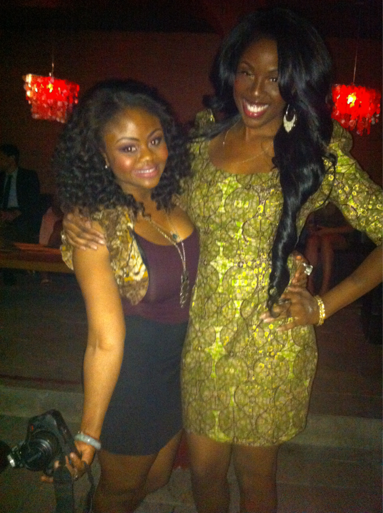 "Hope Wilson and a friend at ""Africans in Hollywood"" event."