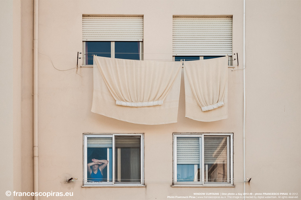 WINDOW CURTUINS  | One photo a day 2013 #9 - photo FRANCESCO PIRAS  © 2012. Photo Francesco Piras | www.francescopiras.eu •  This image is protected by digital watermark. All rights reserved.