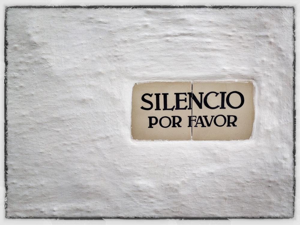'Quiet please'