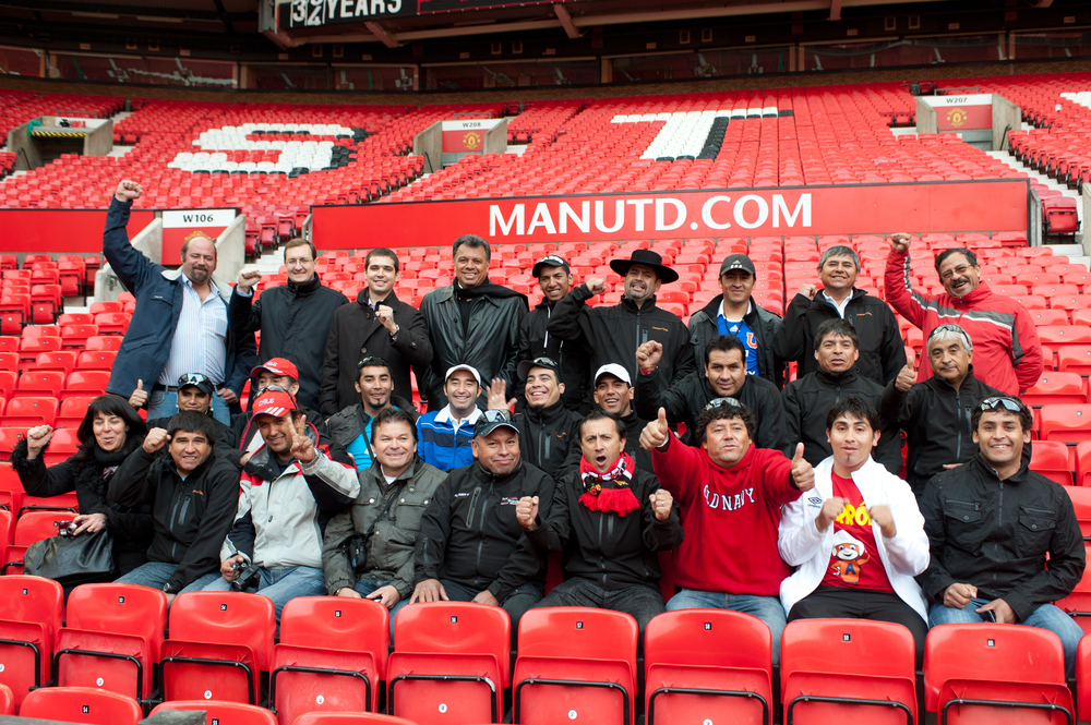 Chilean miners in the stands at Old Trafford.jpg