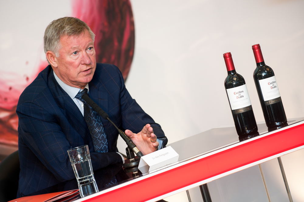 Sir Alex Ferguson during the press conference with Concha y Toro wines.jpg