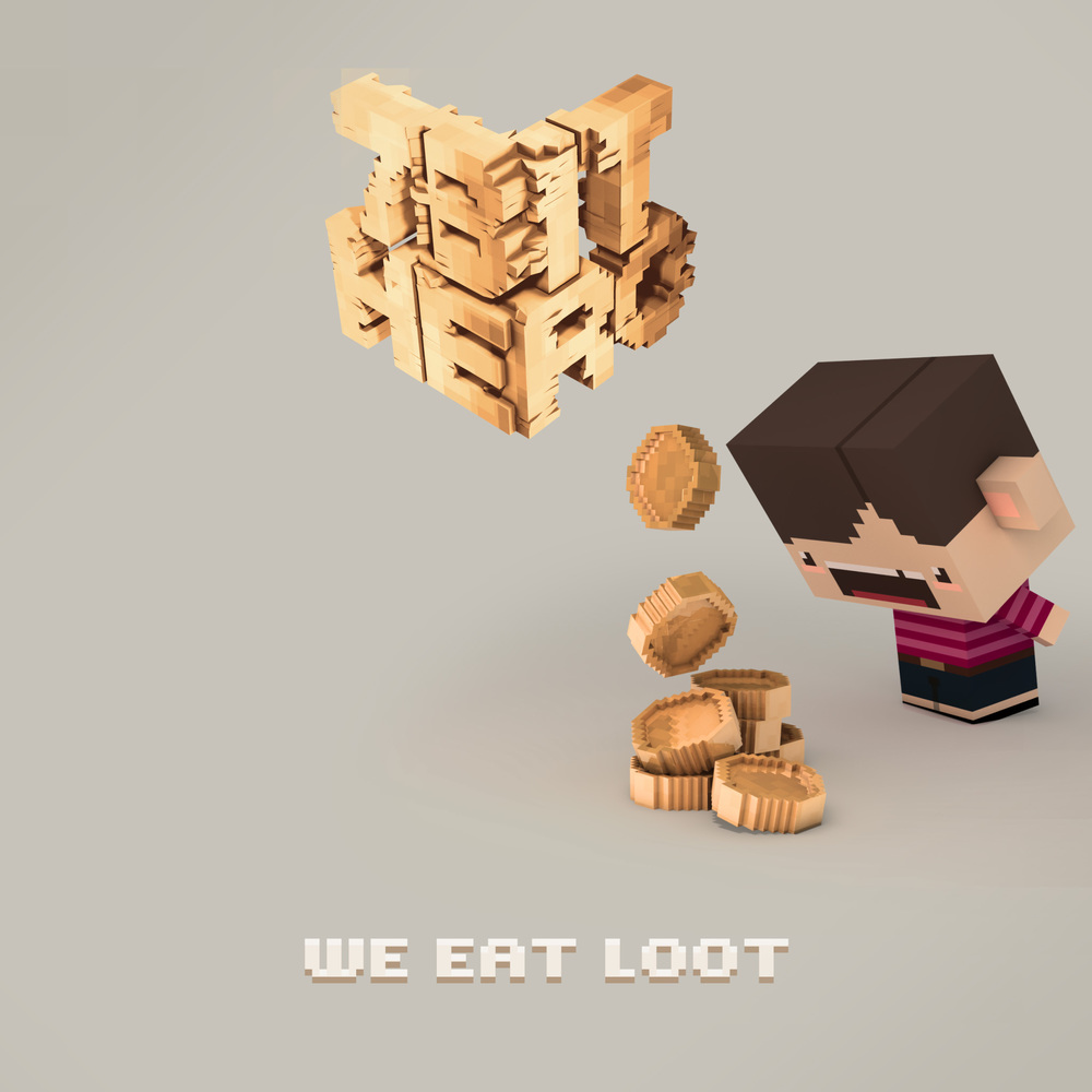 "Cover for ""We eat loot"""