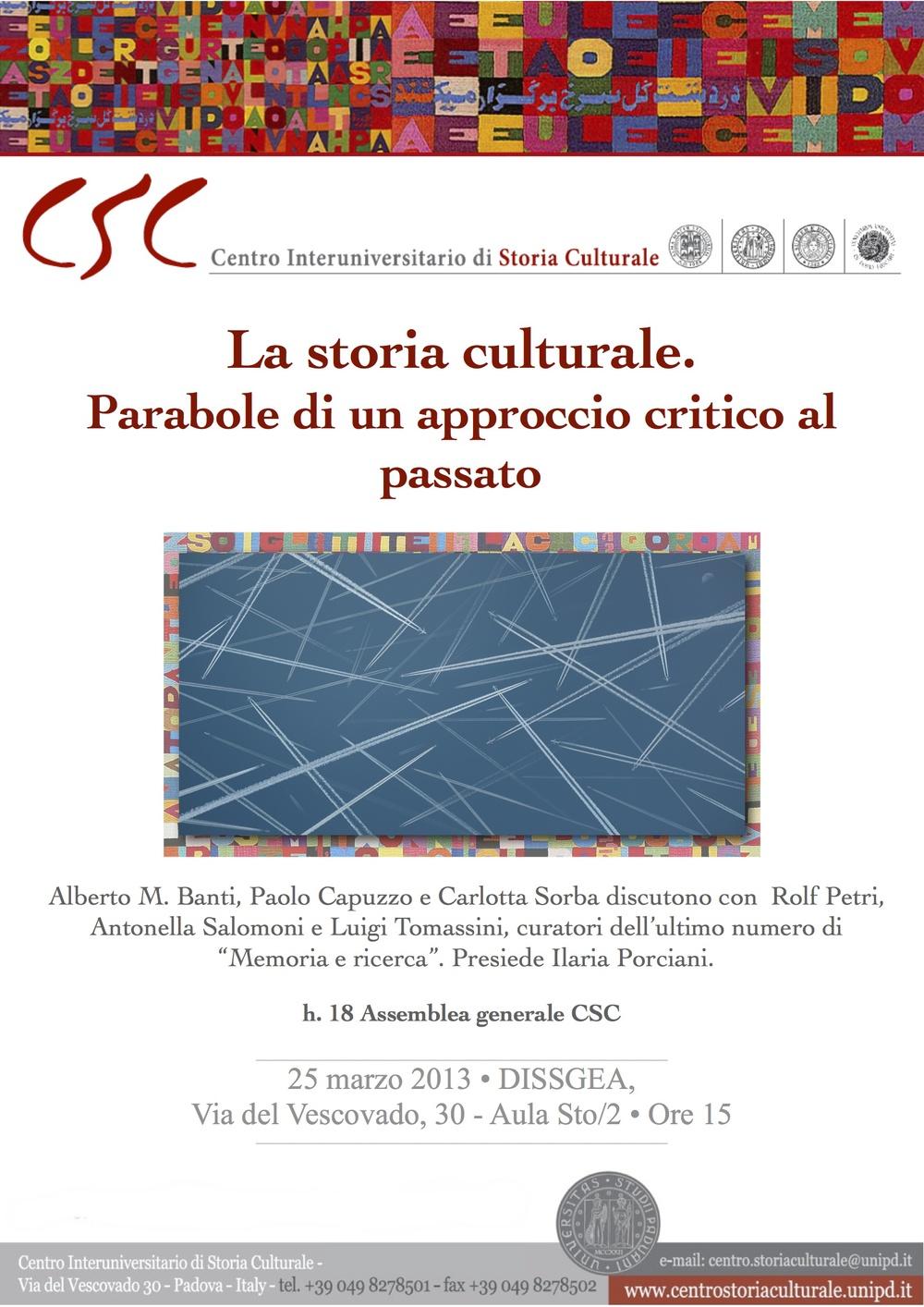 La storia culturale. Parabole di un approccio critico al passato
