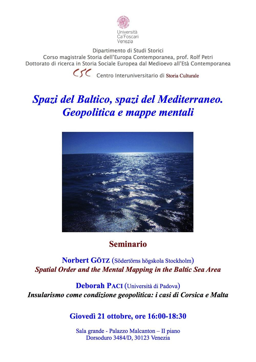 2009-10 (VE) Spazi del Baltico, spazi del Mediterraneo. Geopolitica e mappe mentali .jpg