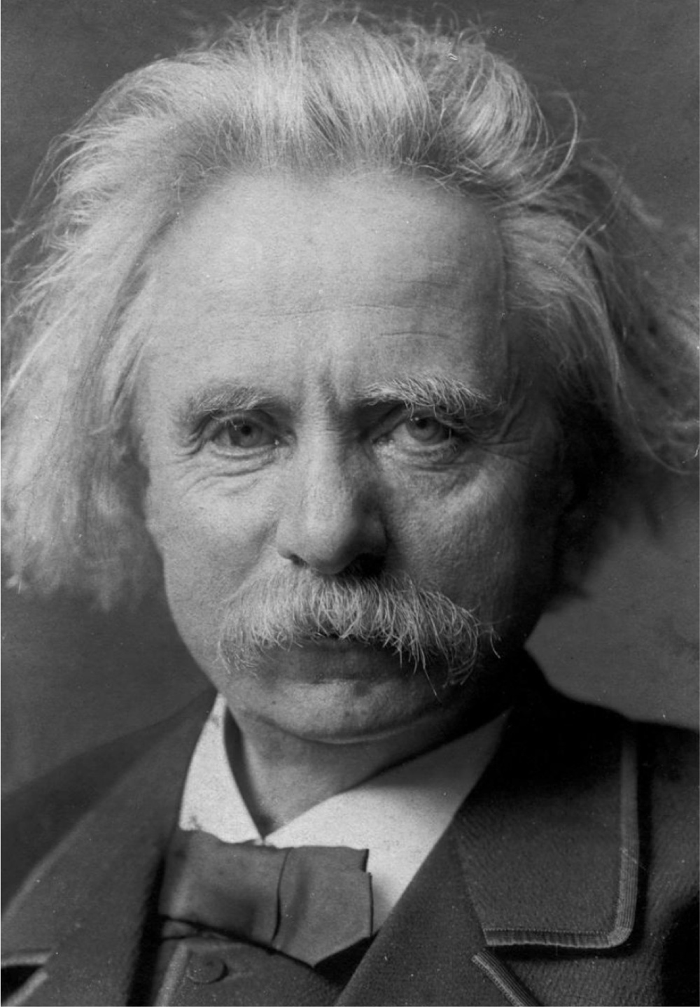 Edward Grieg (1843-1907), the Norwegian composer who's nationalistic music made him a popular hero of his home country.  Though best known for his immensely popular work,  In the Hall of the Mountain King , he actually did not like the piece.  Note the striking resemblance to Einstein in this photo.