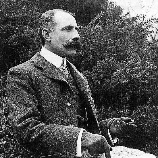 "Edward Elgar (1857-1934) was an English composer.  His ""Pomp and Circumstance"" march has garnered much fame in the U.S. as the processional tune for graduation ceremonies."