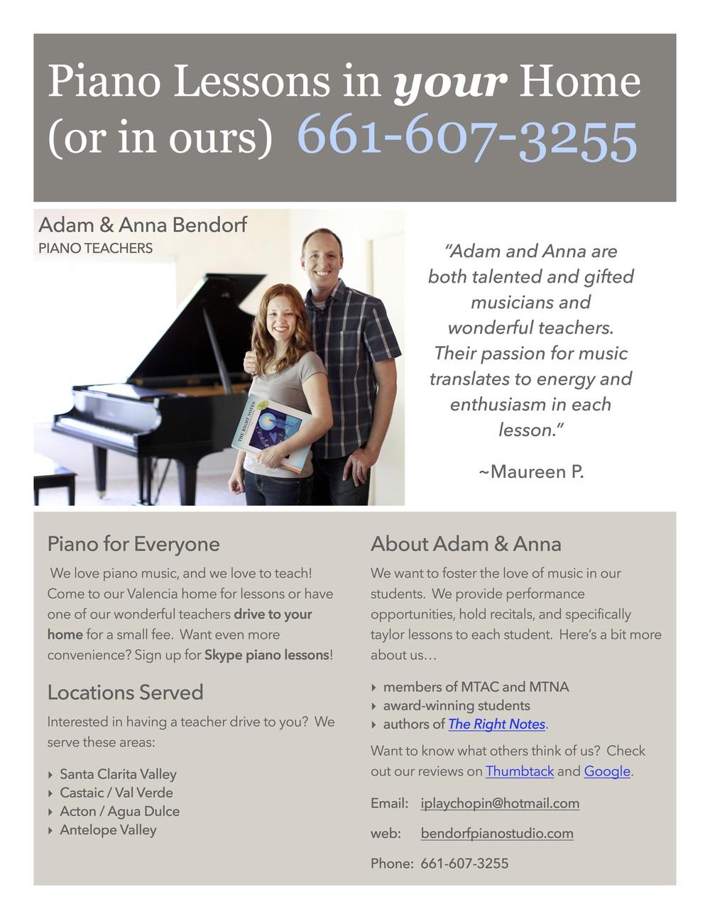Piano Parents Blog Santa Clarita Piano Lessons Bendorf