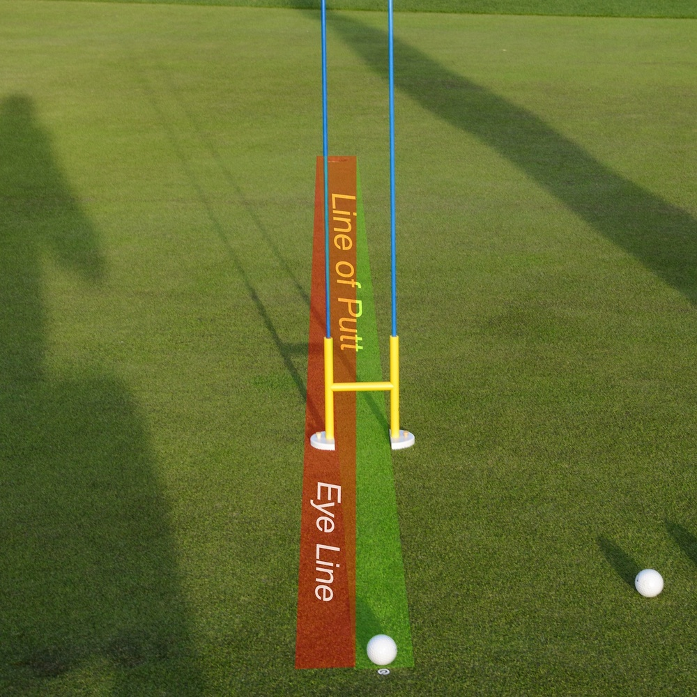 Eyes inside the line of the putt