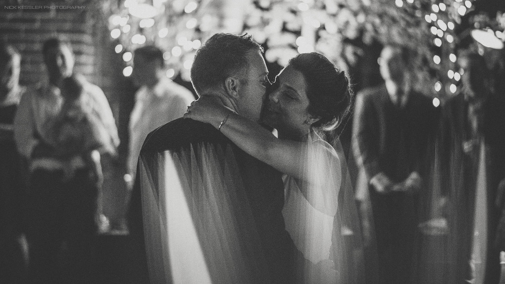 black and white first dance at wedding