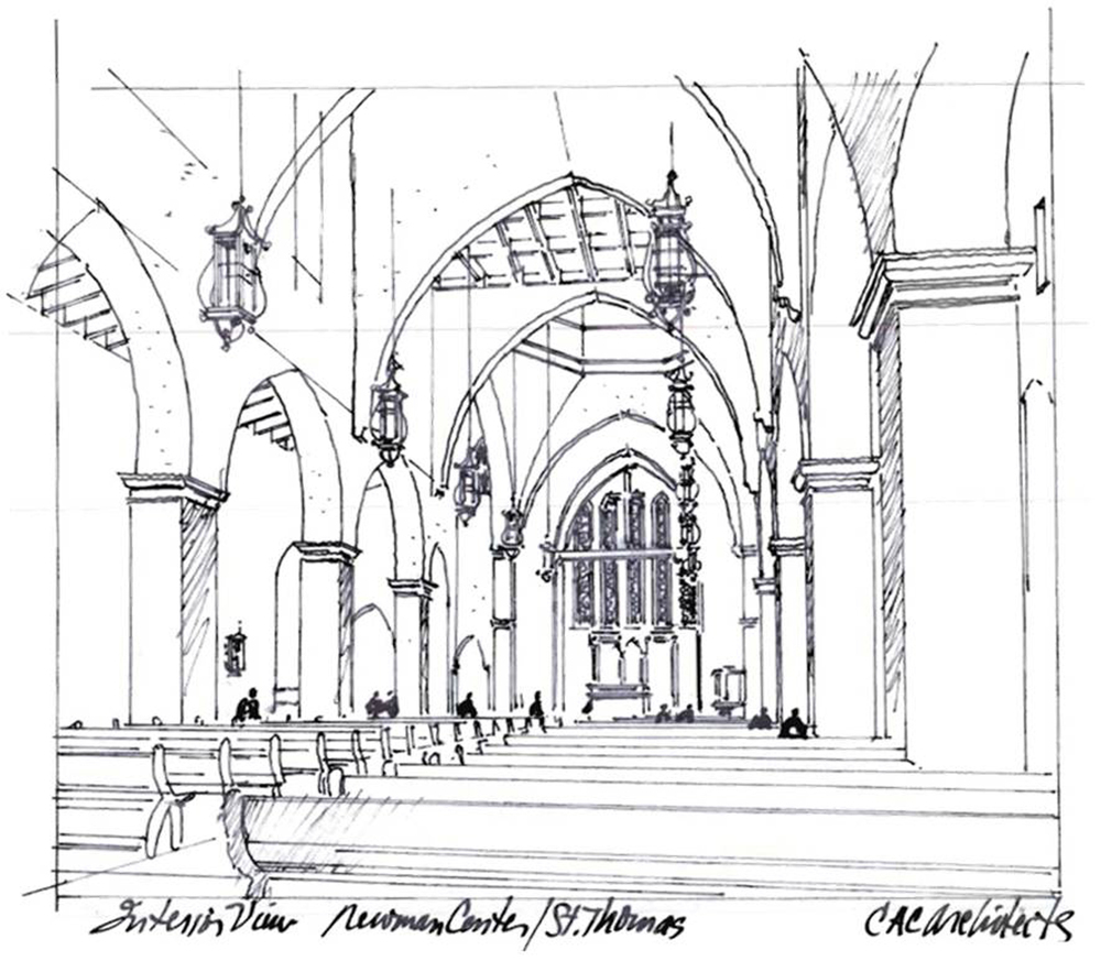 church interior rendering