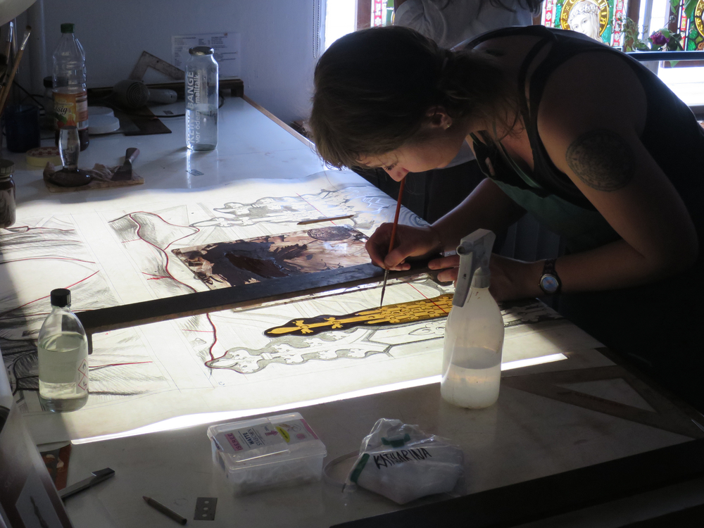 painting with metal oxides
