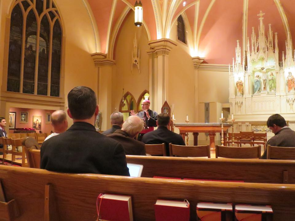 THE SOCIETY FOR CATHOLIC LITURGY:  Bishop James Conley gave the keynote address at the 2014 annual confernece