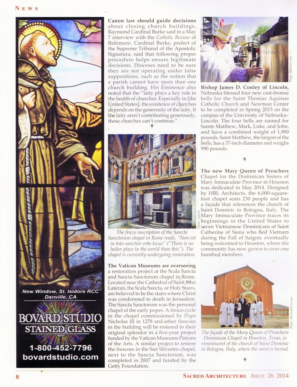 St  Thomas Bell Blessing in Sacred Architecture — Clark