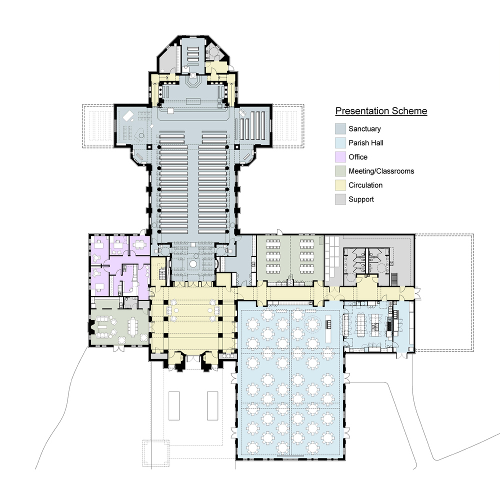 Saint patrick catholic church council bluffs clark for Floor plan church