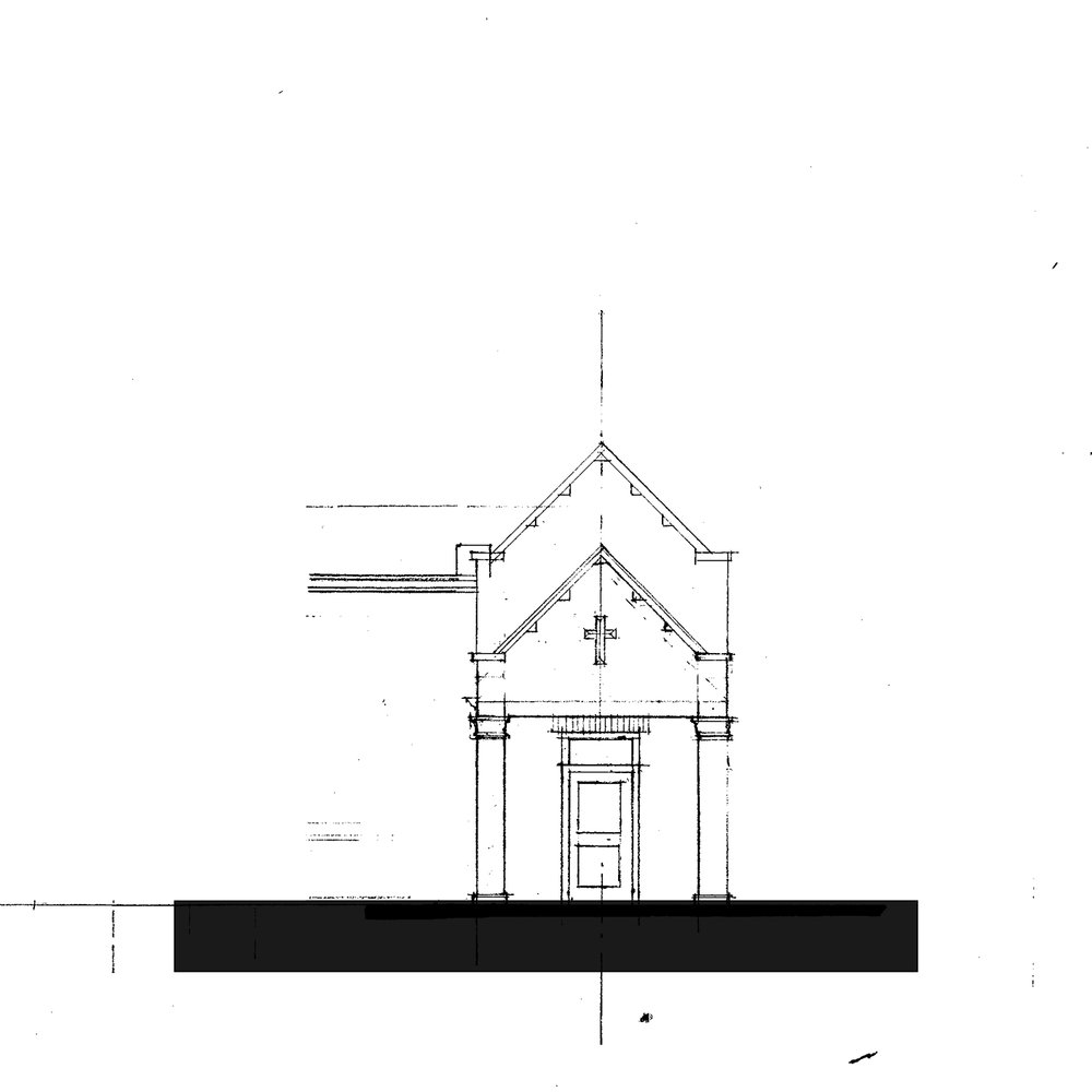 Side Entrance - Front Elevation Sketch