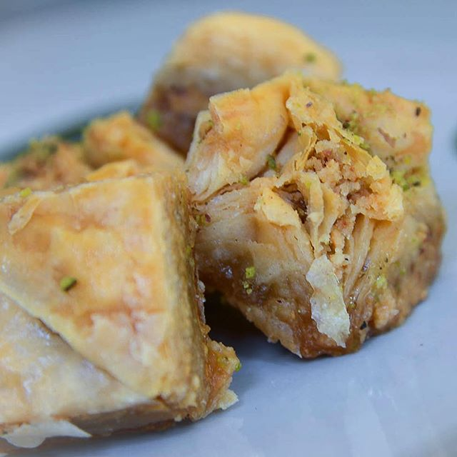 #Mondaymenu update! Come see us in #Victoria at our #londonrestaurant for a ☕️ or 🍴 We've got #baklava, #fresh out of the oven and positively dripping with honey