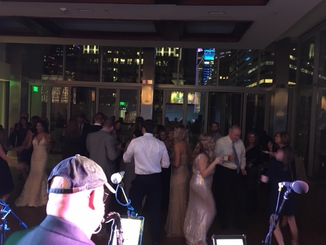 A quick picture from Joe and Charlotte's wedding reception at Foundation of the Carolinas...4th floor uptown Charlotte Nov. 18, 2017