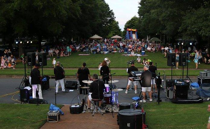 Baxter Village May 26th 2018  Crowds range over 1,000 people each year we play for nine years straight!